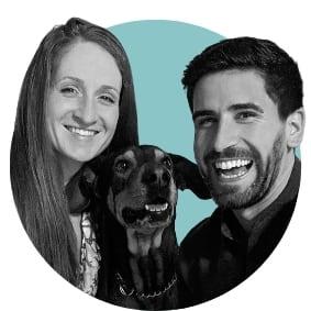 Jelena mit Kevin und Hund